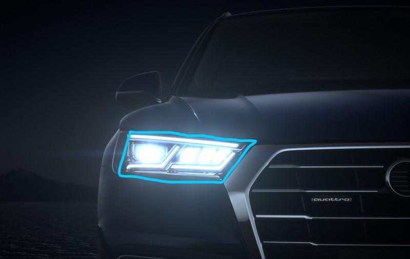đèn pha led ô tô với màu trắng sáng