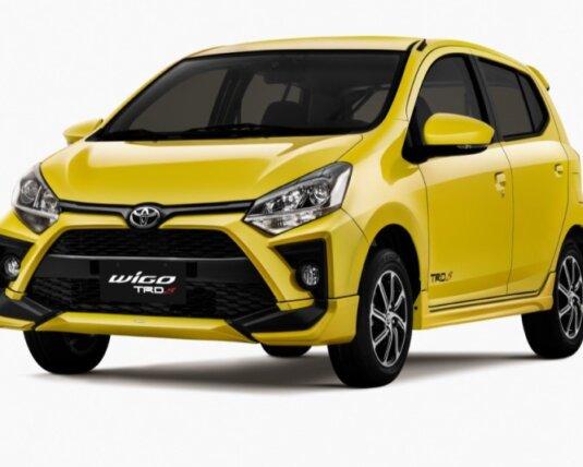 Xe Toyota Wigo bản Hathback màu vàng