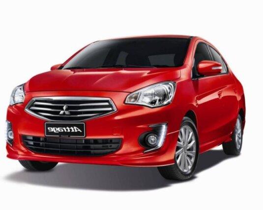 Xe Attrage Mitsubishi bản màu đỏ