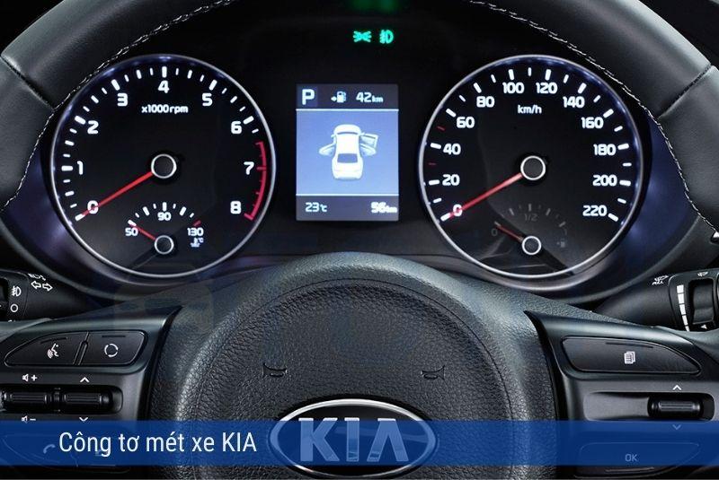 Hai vòng tròn đồng hồ xe Kia