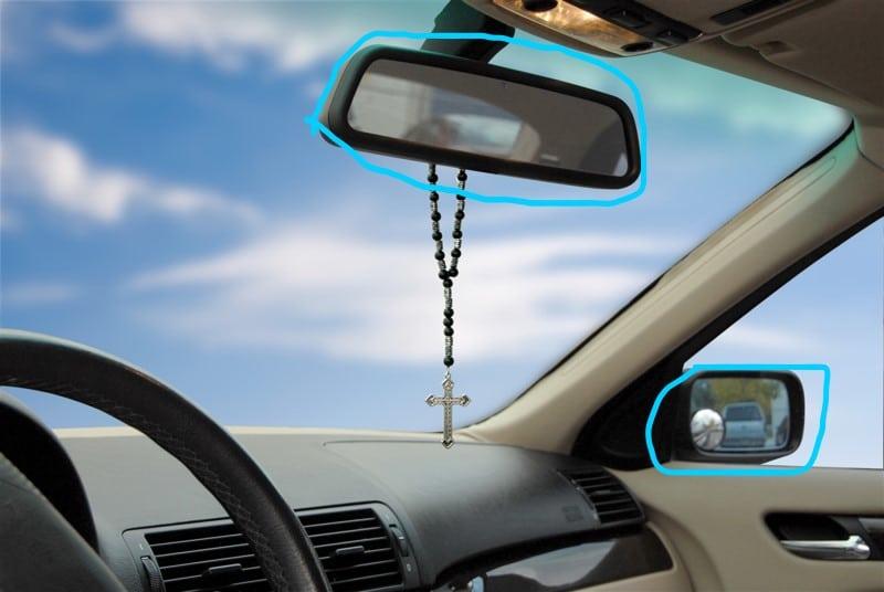 Kính chiếu hậu ô tô phụ tùng giúp tài xế quan sát phía sau xe