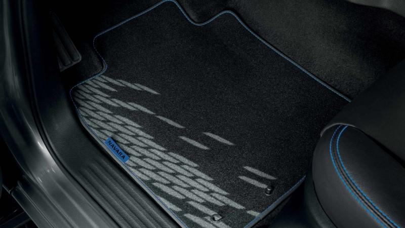 dạng thảm 3D ô tô vân đơn giản trắng