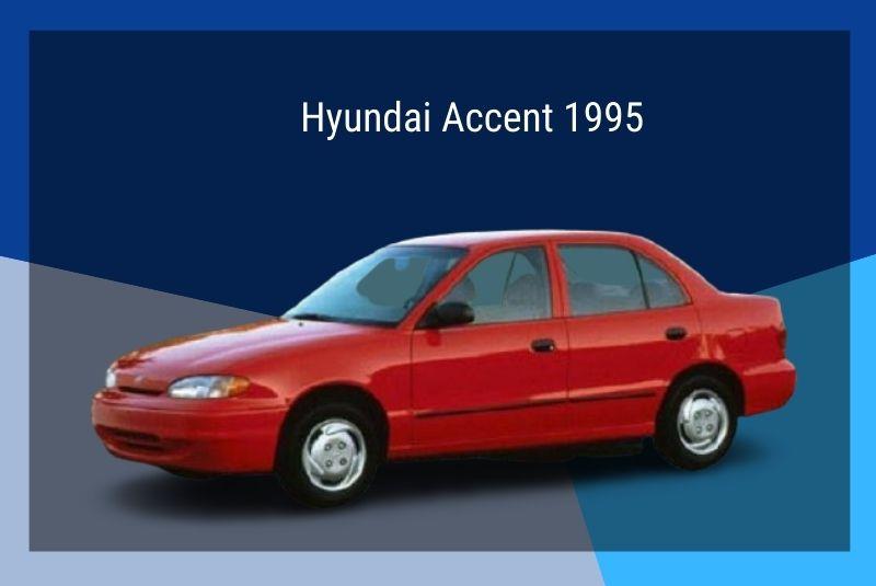 Thế hệ đầu tiên Hyundai Accent 1995