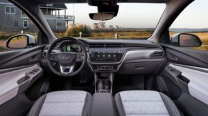 Không gian nội thất của mẫu xe đô thị Chevrolet Bolt EV 2022