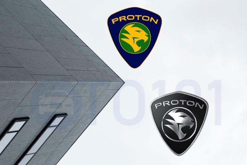 Mẫu logo hãng xe Proton trước và sau