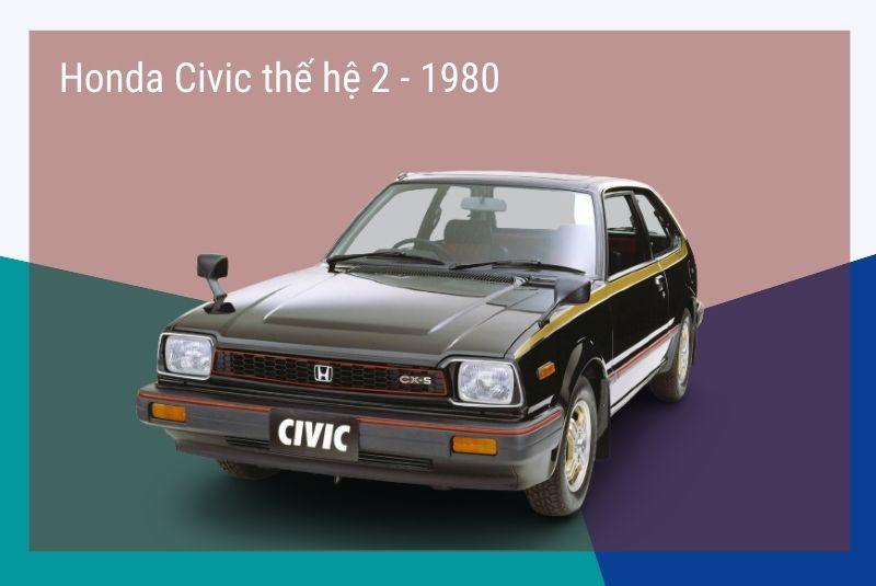 Civic Thế hệ thứ hai: 1980-83