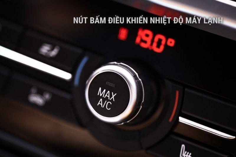 Nút điều khiển nhiệt độ máy lạnh xe
