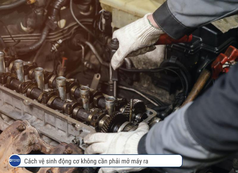 Cách vệ sinh động cơ không cần phải mở máy ra