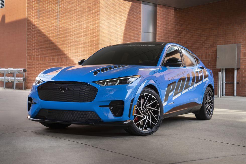 xe Mustan E mẫu xe được cảnh sát ưa chuộng